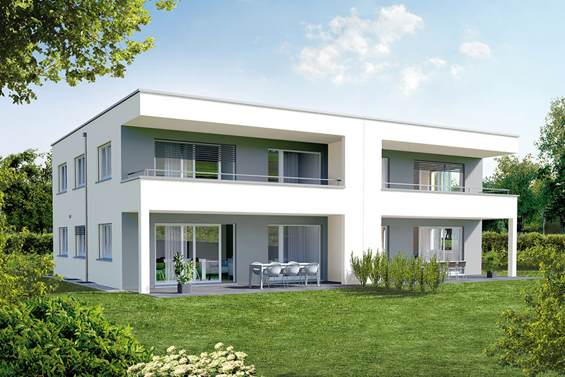 Exemples de financement swisshaus for Zweifamilienhaus modern