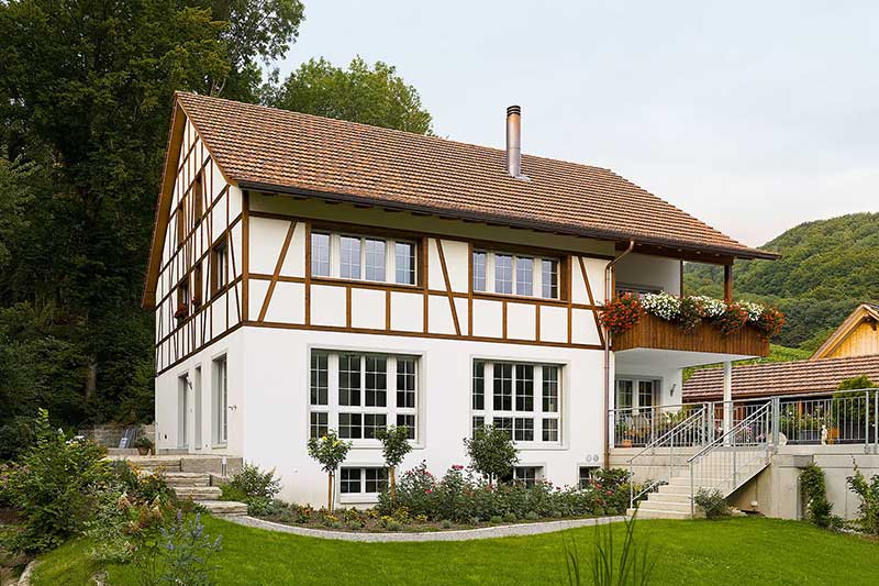 Detached house in half-timbered style